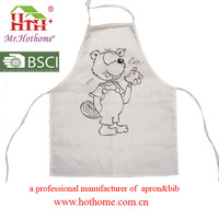 kids apron for painting from hothome factory in Ningbo