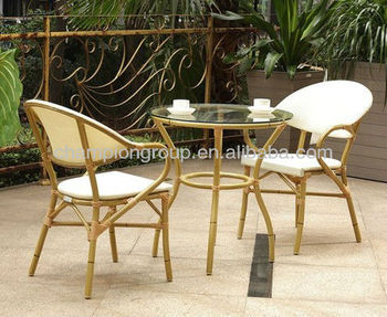 Aluminium Bambu Desain Kursi Restoran Dengan Putaran Meja Makan Buy Aluminium Bamboo Restoran Kursi Cafe Meja Dengan Kursi Bambu Menyelesaikan Bistro Set Product On Alibaba Com