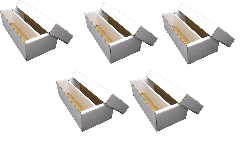 Gaming /& Trading Cards Collecting Supplies by MAX PRO Baseball,Football 3000 Ct. - Cardboard Storage Box Sportscards 25 SUPER Shoe 3-Row Storage Box Hockey Nascar Basketball