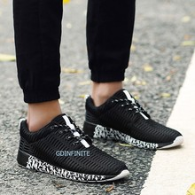 China Manufacturer Big Size Men's Sport Shoes Mesh Lace Up Casual Running Shoes Wholesales 2017 Sneakers Size 39-47