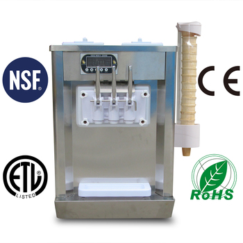 ETL NSF CE approval Kolice factory table top soft ice cream machine for sale