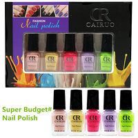 Wholesale- 5pcs/set Fashion Gel Nail Polish Set 12 Colors Nail Art Tool Polish New Style DIY Nail kit 6ml*5
