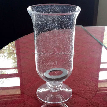 Clear Bubble Footed Hurricane Glass Vase Buy Hurricane Glass Vase