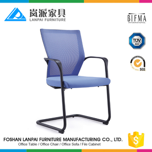 2017 meeting room sled base chairs blue reception mesh chairs LS-809G2