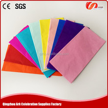 colored tissue paper,crepe paper,papel crepe