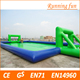 Hot selling inflatable soap football field,used football field equipment,plastic football field play set