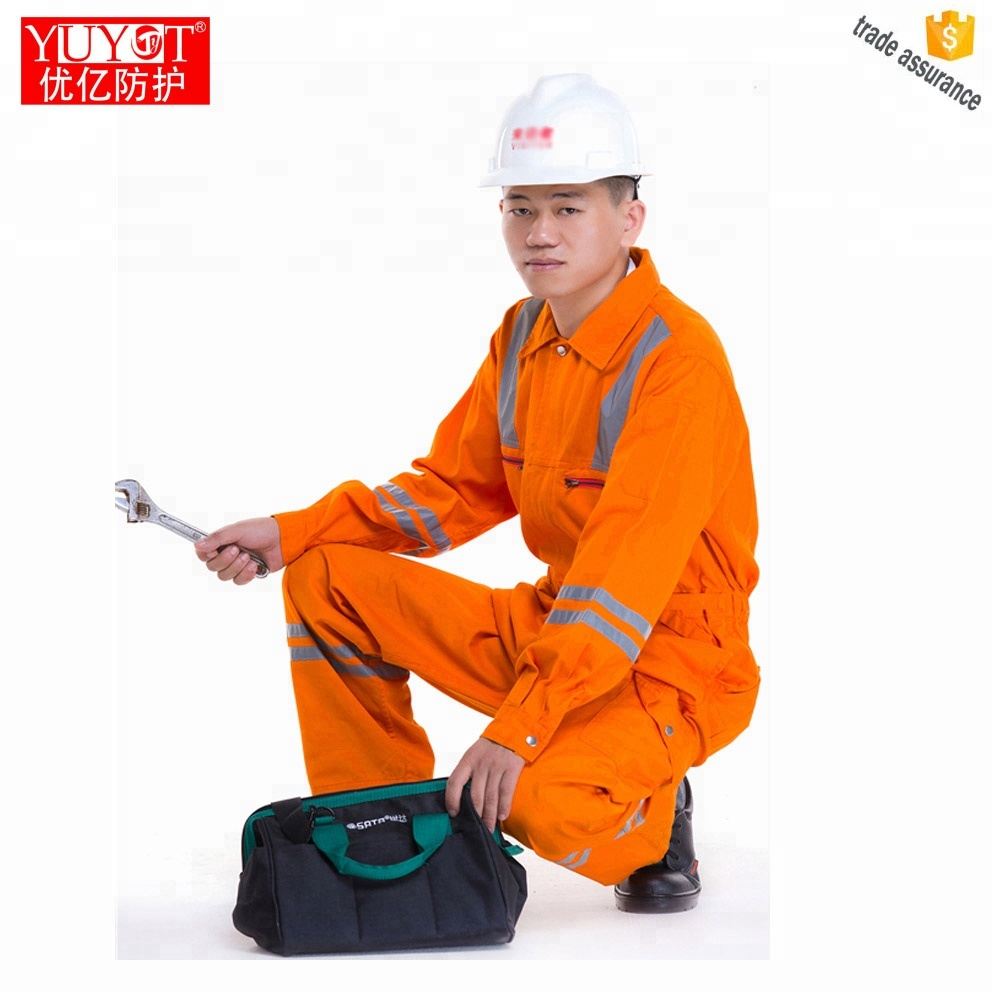 China's custom flame retardant coverall fire suit Flame resistant coverall