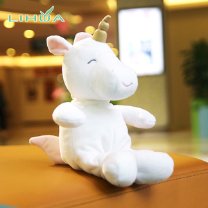 Custom Valentine Large Plush White Unicorn Stuffed Toy