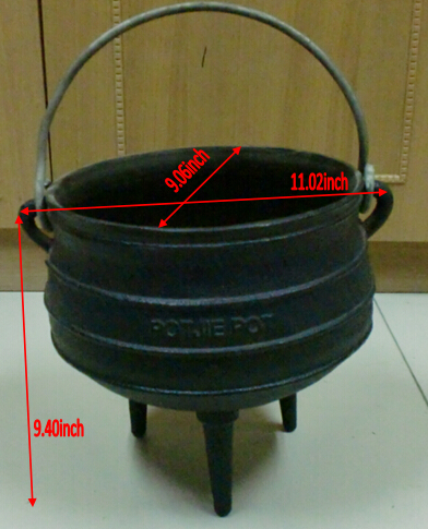 Hot sale high quality south africa 3 legs cast iron cauldron potjie pot