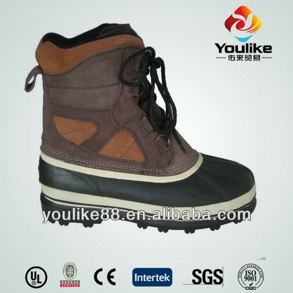 YL9042 Fashion cheap waterproof men winter boots with laceup