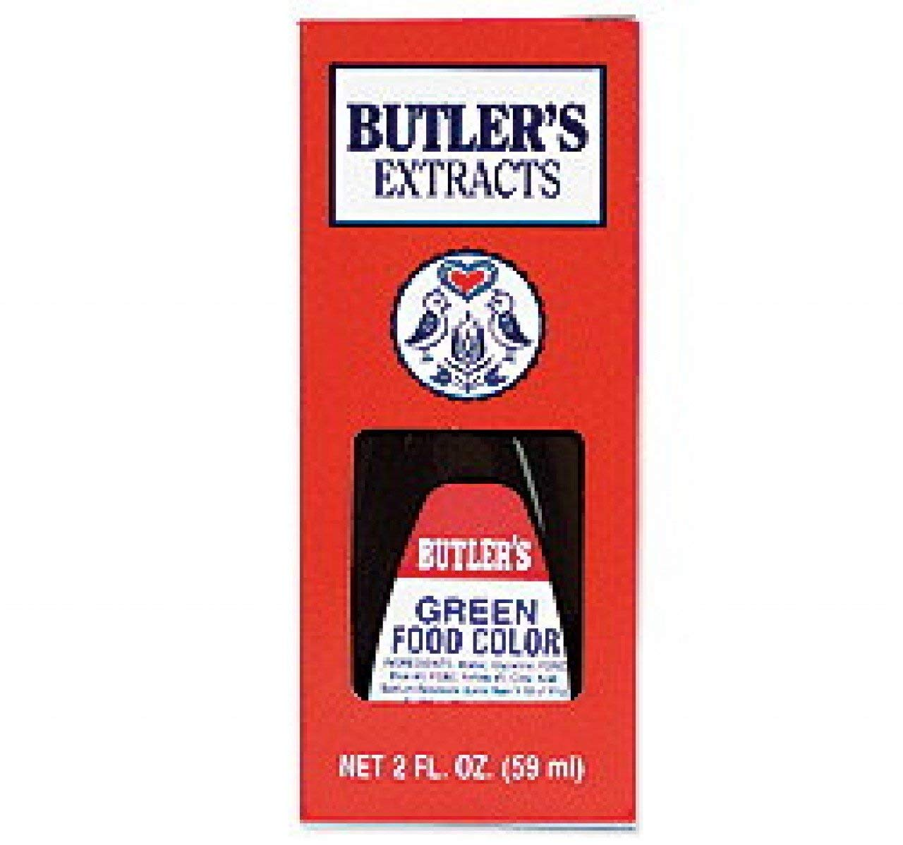 Butler's Best Green Food Coloring, Bottle, 16 fl oz