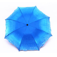 Manual Travel three fold promotional UV protect umbrella