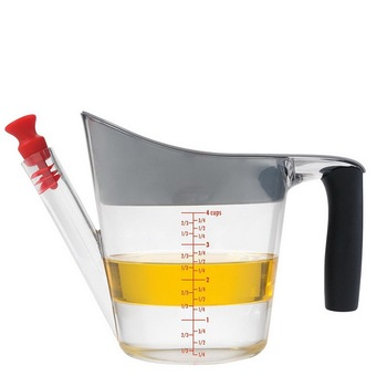 Gravy Oil Fat Separator Measuring Cup with Strainer