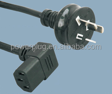 3 Pins Australian standard ac power cord electrical plug with connector YA-3/ST3B