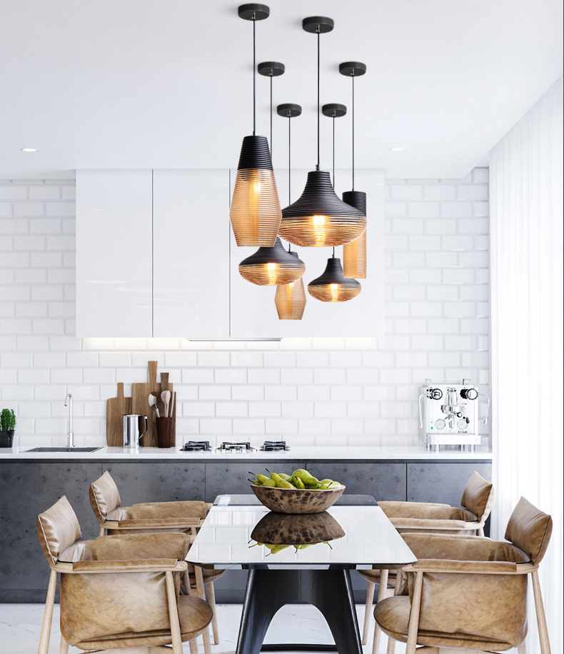 Ceiling fashionable pendant lamp modern indoor glass