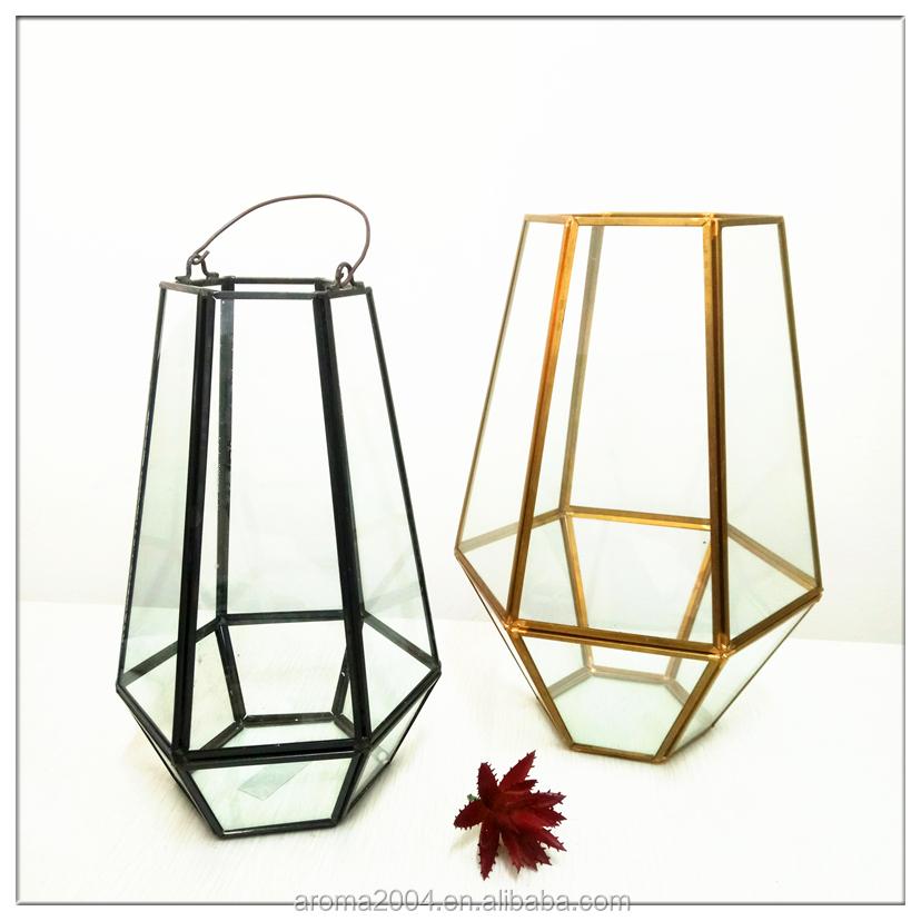 Flower Vase Container Hexagon Terrarium Glass Pot Buy Glass Pot