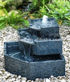 Natural Granite Carved Cascade Garden Stone Home Small