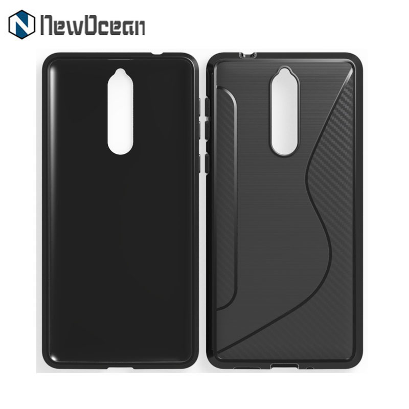 Hot selling metal feel Brushed line soft silicone cell phone case for Nokia 8