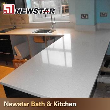 2cm Kitchen Countertop Crystal White Quartz Buy Kitchen