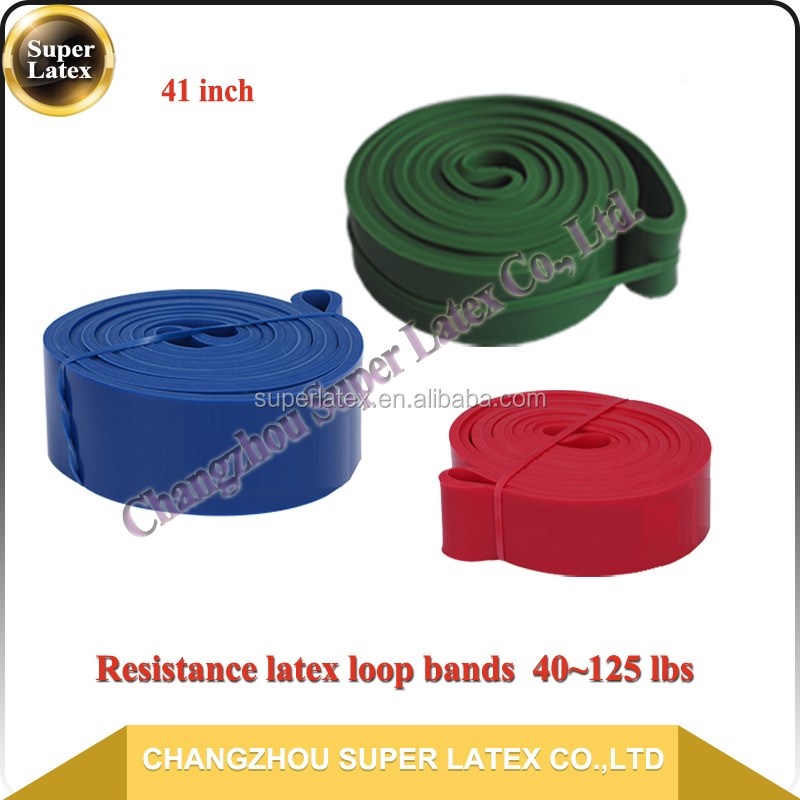Super Latex OEM 2080*64*4.5mm 5.5mm 6.5mm 100~300 lbs 11PCS Sets Heavy duty USA UK Gym exercise bands and balls