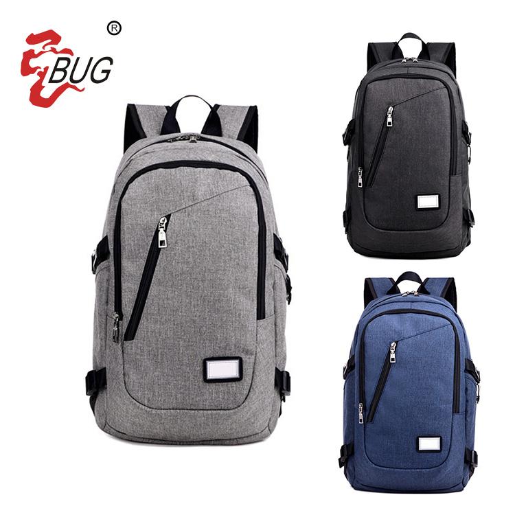 2018 New design large capacity waterproof nylon bag unit daily shoulder backpack bag charging backpack usb