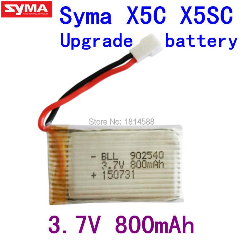 Fast Charging 800mAh Battery For Syma X5 X5C X5SC X5C-1 V931 H5C CX-30 CX-30W