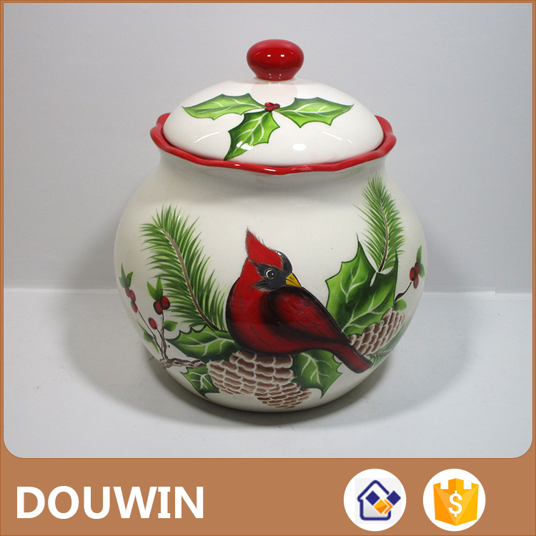 China manufacture supplied ceramic material storage jar for cookies