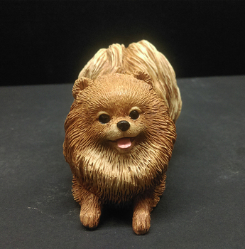 Merveilleux Puppy Pomeranian Dog Figurines Resin Craft Fairy Garden Statues Accessories