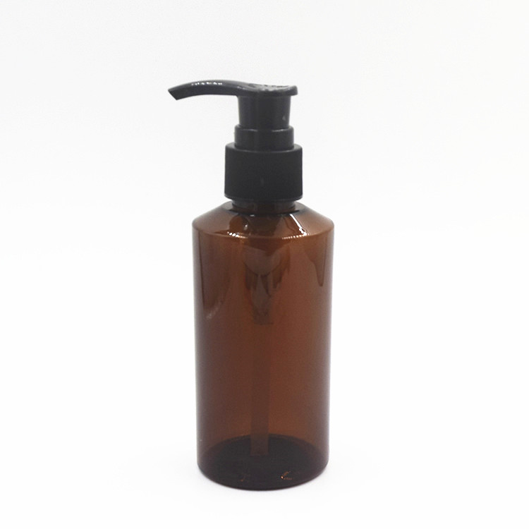 samll quantity stock quantity cosmetics150ml amber plasticlotion pump <strong>bottle</strong>