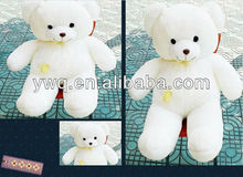 White pure teddy bear /cute /lovely /bear /customed soft plush bear toy