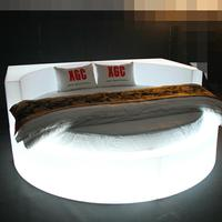 Romantic luminous LED irregular bed Lighting Dream Furnishing for hotel theme hotel funiture