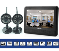 4ch digital wireless security camera with 7