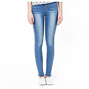 Women Jeans - TOOGOO(R)Woman's Autumn Fashion High Waist jeans High Elastic plus size Women Jeans woman washed casual skinny pencil Denim pants(Light blue in white,6XL/US-16)