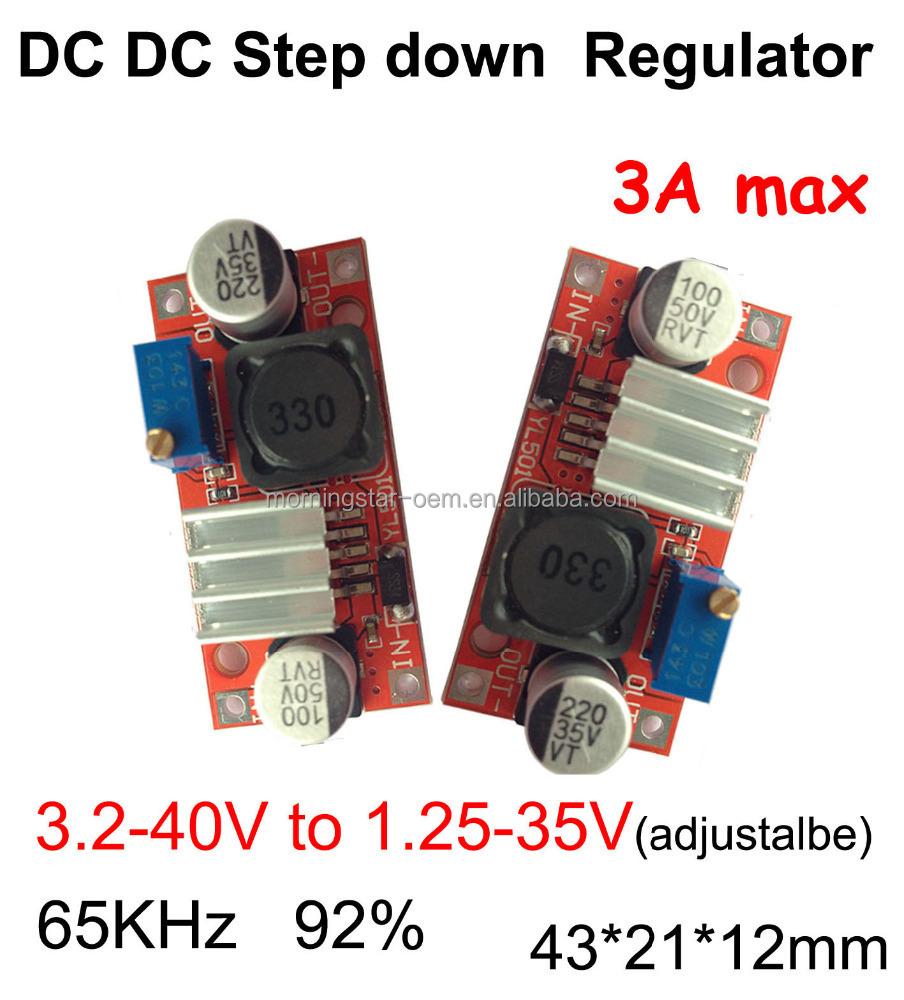 Dc Step Down Transformer Lm2596 Ic Adjustable Voltage 32 40v To Regulator 125 35v 3amaxvoltage Regulatorsuperior Quality Buy Red Board Buck Converter