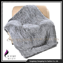 CX-D-92 Wholesale China Rex Rabbit Fur Throw
