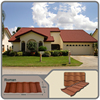 Colorful metal Roofing Shingle Different Shapes Colorful stone coated steel Shingle /Tile