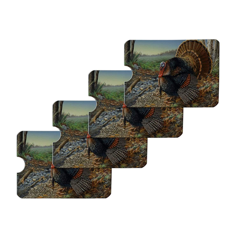 American Yellow Warblers Birds Credit Card RFID Blocker Holder Protector Wallet Purse Sleeves Set of 4