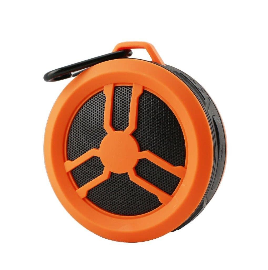 Portable Water Proof Wireless Speaker for Micromax Bharat 2 Plus, Canvas Selfie 2 Note, Meizu M6 (Orange)
