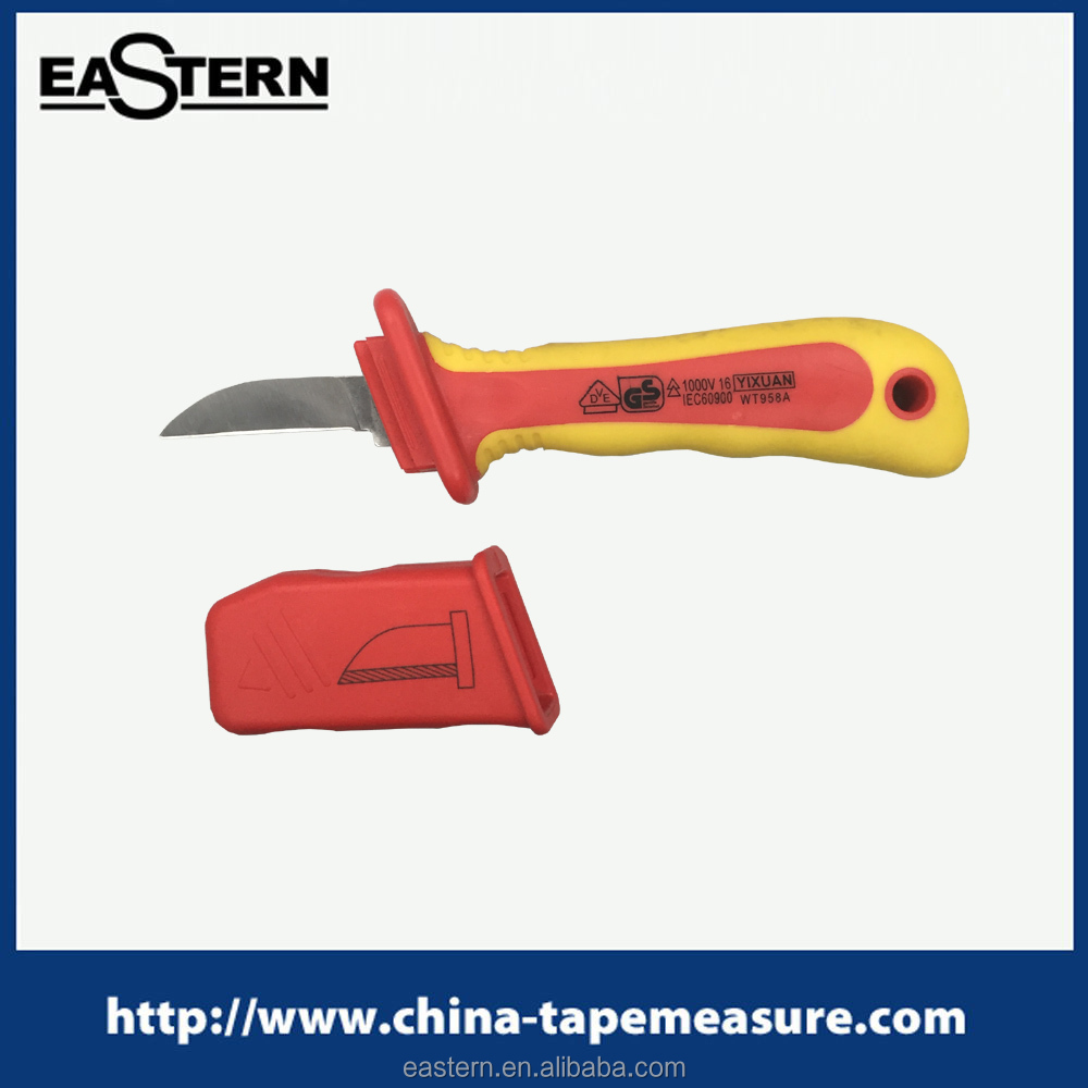 CK-01 VDE 1000V insulated cable knife straight