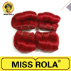 Wholesale Red Color Miss Rola Hair Extensions, 6 Inch Afro B Human Hair Extension Styles