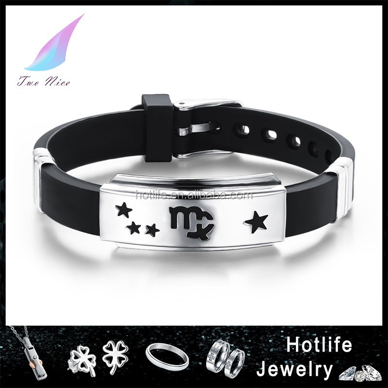 2015 hot sell adjustable silicone promotional bracelet,wristband for men
