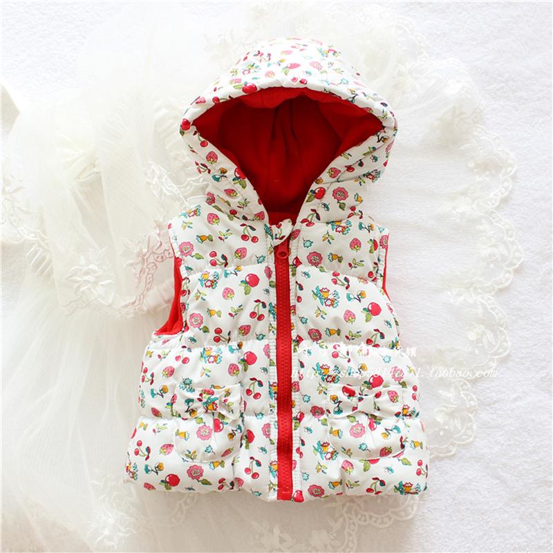 Hot Sale flowers Cotton Girls Cute Waistcoat Kids Vest Children Free Shipping autumn lace
