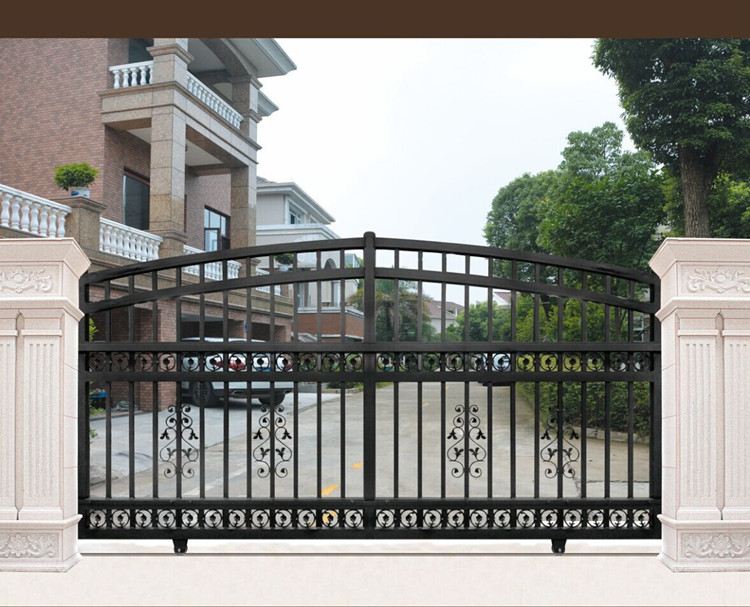 Gate 001 latest simple iron sliding indian house main gate for Simple gate designs for homes