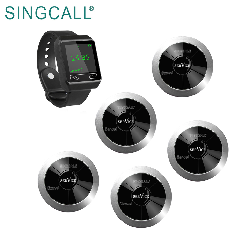 SINGCALL paging buzzer horloge draadloze restaurant pager systeem
