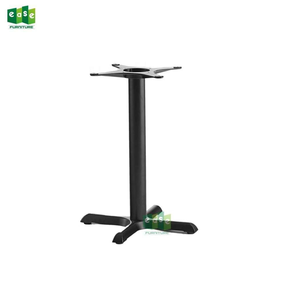 Restaurant accessories 4 legs trumpet table bases for glass tables