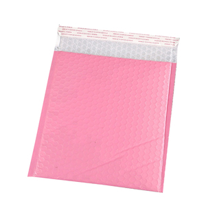 Customized personalized 12x15.5 light pink colored printed poly mailling envelope pack bags bubble mailer for book