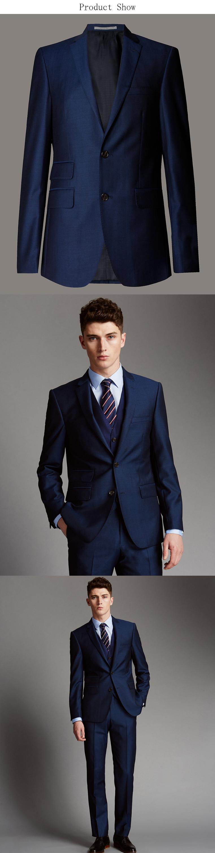 Custom Made Royal Blue Coat Pant Design Men Wedding Suit Photos ...