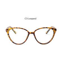 Oulylan оправа для очков в стиле кошачьи глаза для женщин и мужчин Классические прозрачные линзы для женщин Ультра светильник оправы для очков ...(Китай)