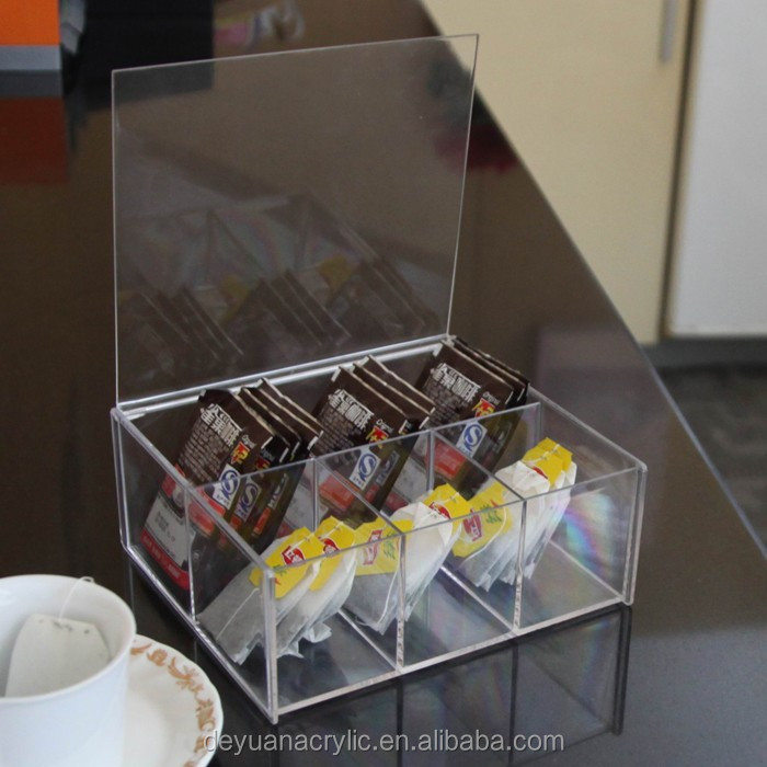 Acrylic storage box/clear acrylic rectangle storage box with lid/clear acrylic compartment storage box