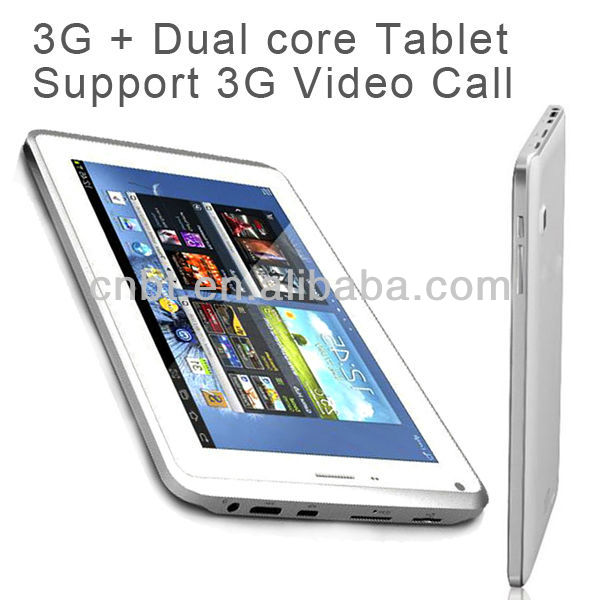 Android 7 inch dual core built-in gps 3g wifi tablet pc